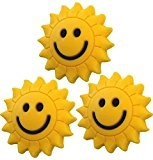 3 Sunshine Smiley Vibrationsdämpfer Tennis Emoji