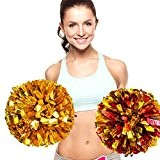 ANGTUO 2 PCS Team Sports Cheerleading Pom Poms Spiel Pom Plastikring Junggesellinnenabschied Dressing
