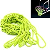 Basketballnetz,CAMTOA Basketball Korb NETZ Ersatznetz Ballnetz,Glow In The Dark leuchtend Solar HoopNet für Basketballkorb,geflochtenem Nylon 44x32cm/17.32x12.59,für Outdoor Sports Basketball Training