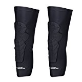 COOLOMG 2 Packs (1 Paar) Kinder Erwachsene EVA Pads Crashproof Basketball Bein Knie Langarm Schutz Gear XS-XL