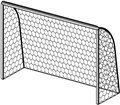 FOOTBALL GOAL NET mt 4x2