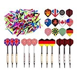 "Kings Dart Dartpfeile Spar-Set ""Allround"" mit 12 Turnierdartpfeilen, 36 Full Dart Flights und 500 Dartspitzen"