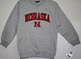 Nebraska Cornhuskers Youth Kinder NCAA Crew Sweatshirt - Grey