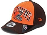 New Era NFL CLEVELAND BROWNS Authentic 39THIRTY Draft 2013 Stretch Fit Cap