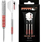 Showtime Darts – Fuzion Grip – Spitze aus Wolfram – Limited Edition rot – 23 G – inkl. Darts Ecke Checkout-Karte