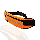 [Sport Waist Bag] Flat Belt Bag Fanny Pack Waist Bag with Earphone Occasion Fits All Phone Under 5.5 Inch Must ...
