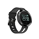 tslmj Bluetooth Smart Watch, Herzfrequenz Monitor und IP68 wasserdicht Smart Wristband Fitness Tracker für IOS und Android.
