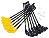 Unihockey Set Alpha - Indoor Outdoor Hallenhockey Feldhockey Hockeyschläger Hockeyset Hockeybälle Lochbälle Schulsport Training Hockey Kinder